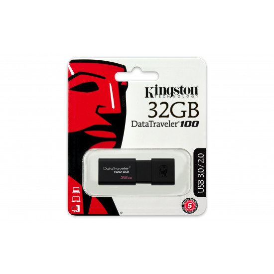Kingston Technology DataTraveler 100 G3 flash 32 Go USB Type-A 3.0 (3.1 Gen 1)