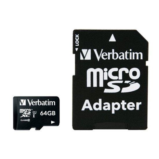 Verbatim Premium mémoire flash 64 Go MicroSDXC Classe 10