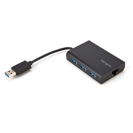 Targus USB 3.0 Hub avec port Gigabit Ethernet