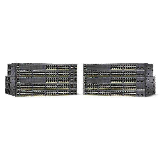 Cisco Catalyst 2960-X Switch Gigabit Ethernet Noir 48 ports
