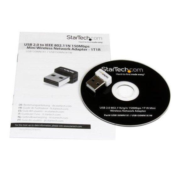 StarTech.com Mini Clé USB Sans Fil N 150 Mbps - Adaptateur USB WiFi 802.11n/g 1T1R