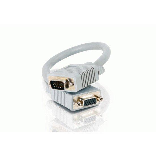 C2G 0.5m Monitor HD15 M/F cable câble VGA 0,5 m VGA (D-Sub)