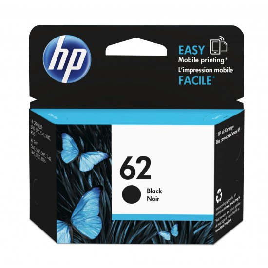 HP 62 Black Ink Cartridge / C2P04AE#UUS Cartouche encre / Noir