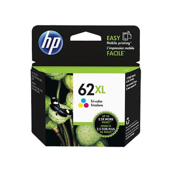 HP 62XL Tri-color Ink Cartridge / C2P07AE#UUS Cartouche encre / Cyan, Magenta, Jaune