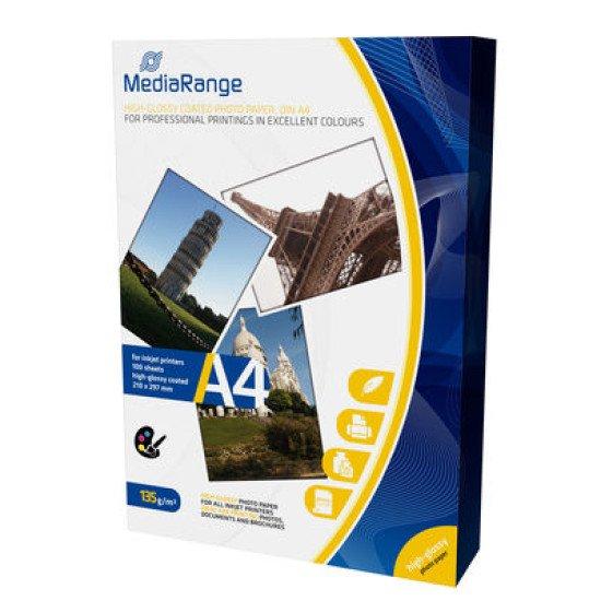 Mediarange papier photo brillant A4 135g 100 feuilles