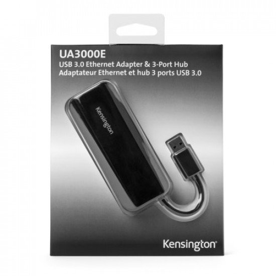 Kensington Adaptateur Ethernet et hub 3 ports USB 3.0