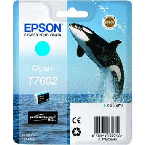 Epson T7602 Cartouche encre Cyan
