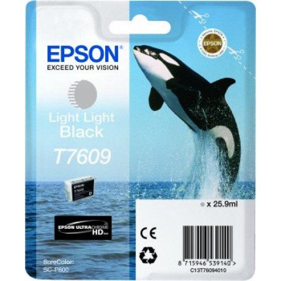 Epson T7609 Cartouche encre Noir très pâle
