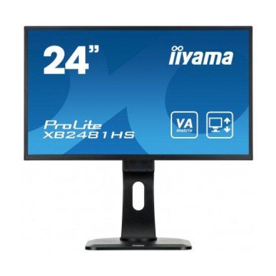 "iiyama ProLite XB2481HS-B1 LED écran PC 24"" 1920 x 1080 pixels Full HD Noir"