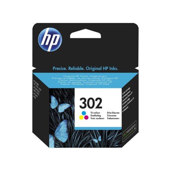 HP 302 / F6U65AE Cartouche encre / Cyan, Magenta, Jaune