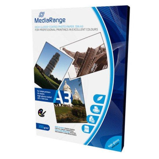 Mediarange papier photo brillant A3 200g 50 feuilles