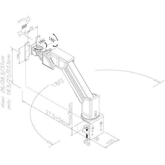 Newstar FPMA-D600BLACK support bureau