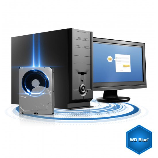 """Western Digital Blue 3.5"""" 2000 Go Série ATA III"""