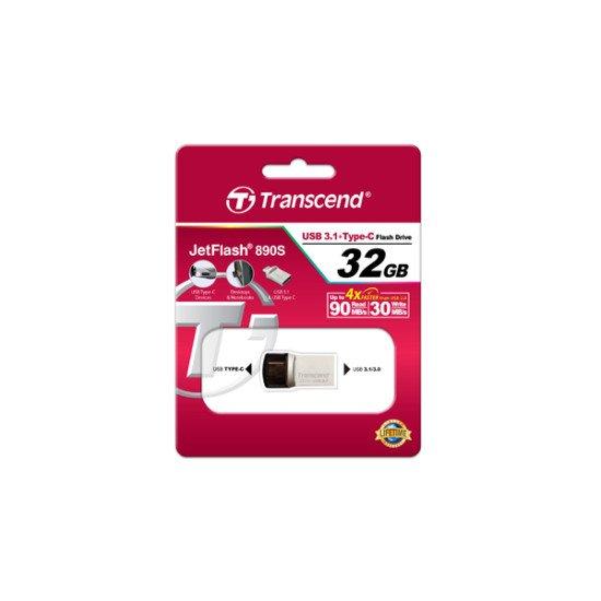 Transcend JetFlash 890 USB 3.1 32 Go