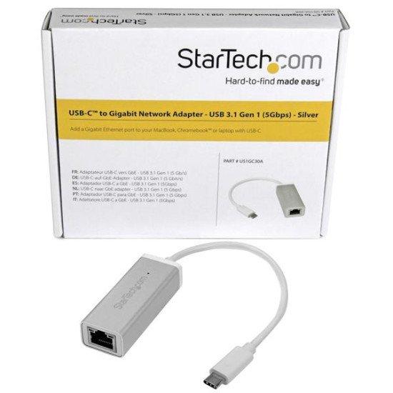 StarTech.com Adaptateur réseau USB-C vers RJ45 Gigabit Ethernet - M/F