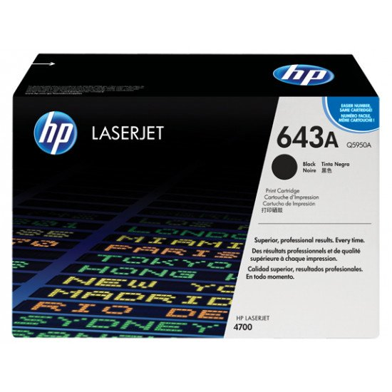 HP 643A / Q5950A Toner Noir