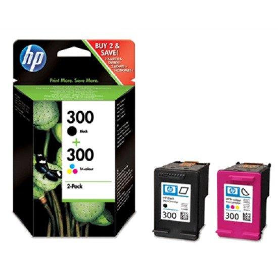HP 300 / CN637EE Pack de 2 cartouches d'encre / Noir, Cyan, Magenta, Jaune