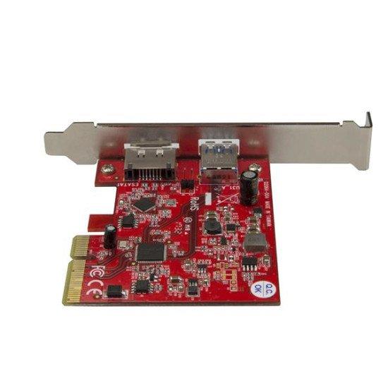 StarTech.com Carte contrôleur PCIe à USB 3.1 (10 Gb/s) et eSATA III (6 Gb/s)