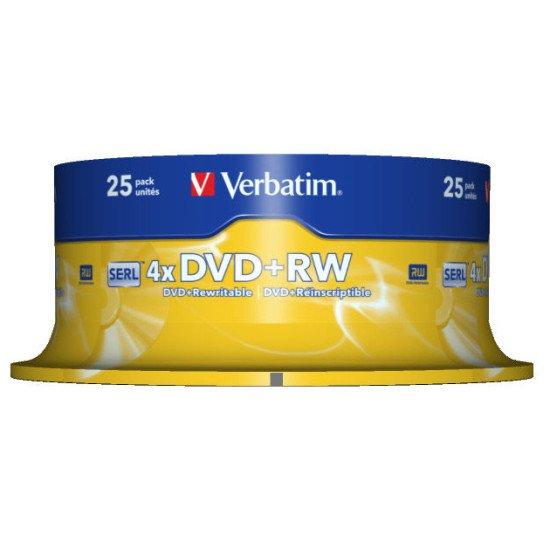 Verbatim DVD+RW Matt Silver 25p.