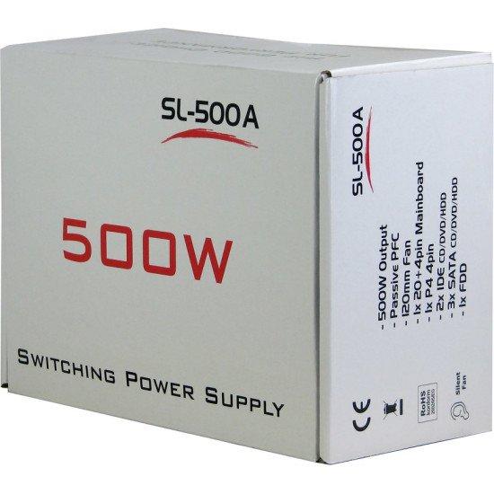 Inter-Tech SL-500A Alimentation 500 W 20+4 pin ATX ATX Gris