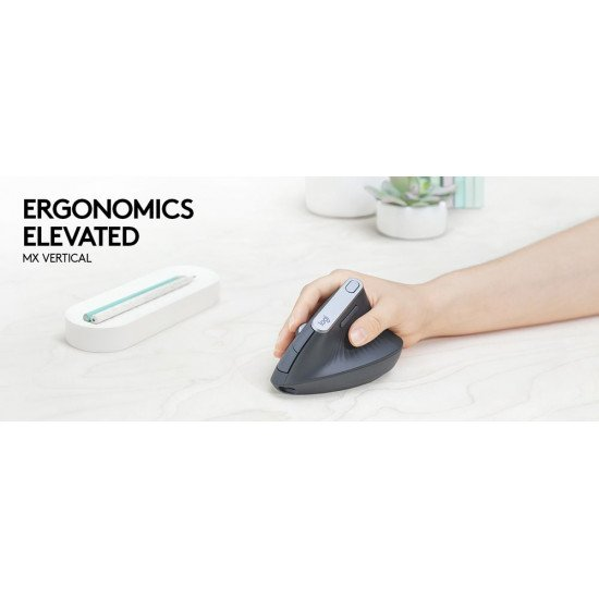 Logitech MX Vertical Advanced Ergonimic souris Sans fil Bluetooth Optique 4000 DPI