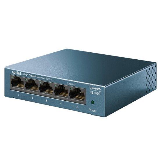 TP-LINK LS105G commutateur réseau Non-géré Gigabit Ethernet (10/100/1000) Bleu