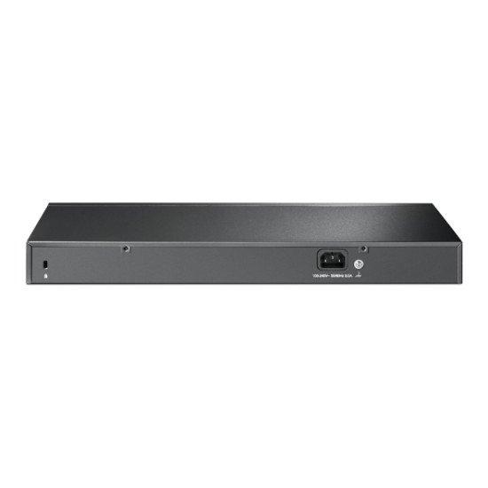 TP-LINK TL-SG1218MPE commutateur réseau Géré Gigabit Ethernet (10/100/1000) Noir Connexion Ethernet, supportant l'alimentation via ce port (PoE)