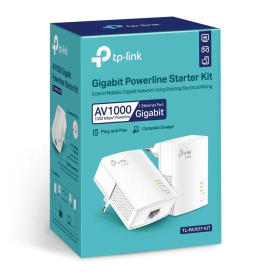TP-LINK AV1000 1000 Mbit/s Ethernet/LAN Blanc 2 pièce(s)