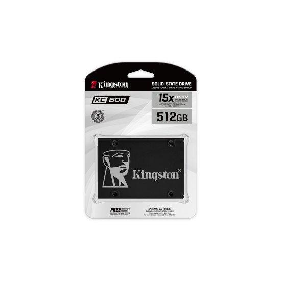 "Kingston Technology KC600 disque SSD 2.5"" 512 GB Serial ATA III 3D TLC"