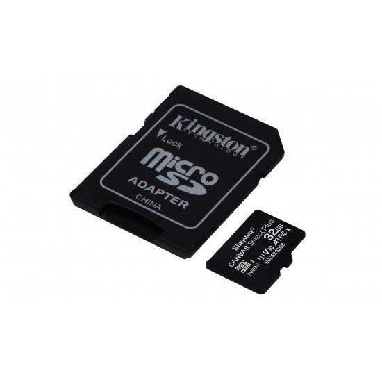 Kingston Technology Canvas Select Plus mémoire flash 32 Go MicroSDHC Classe 10 UHS-I