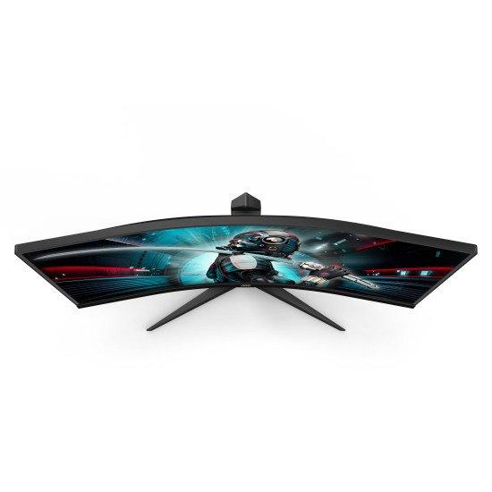 "AOC Gaming CU34G2/BK LED écran PC 86,4 cm (34"") 3440 x 1440 pixels WQHD Noir, Rouge"