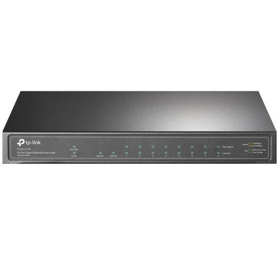 TP-LINK TL-SG1210P commutateur réseau Gigabit Ethernet (10/100/1000) Gris Connexion Ethernet, supportant l'alimentation via ce port (PoE)