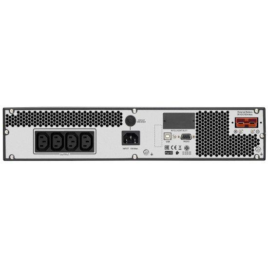 APC Easy UPS ONLINE SRV RM Ext. 1000VA230V Double-conversion (en ligne) 1000 VA 800 W 4 sortie(s) CA