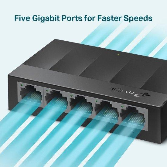 TP-LINK LS1005G commutateur réseau Gigabit Ethernet (10/100/1000) Noir