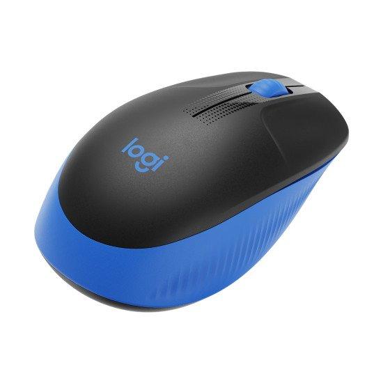 Logitech M190 souris RF sans fil Optique 1000 DPI Noir/Bleu