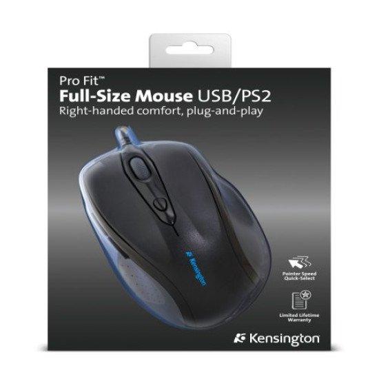 Kensington Pro Fit Full-Size Souris Optique USB+PS/2