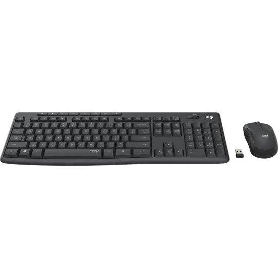 Logitech MK295 Silent Wireless Combo clavier RF sans fil QWERTY US Noir