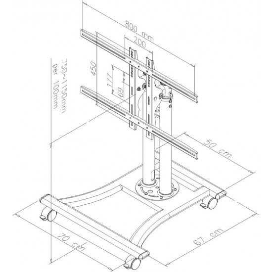 Newstar PLASMA-M1200 support tv