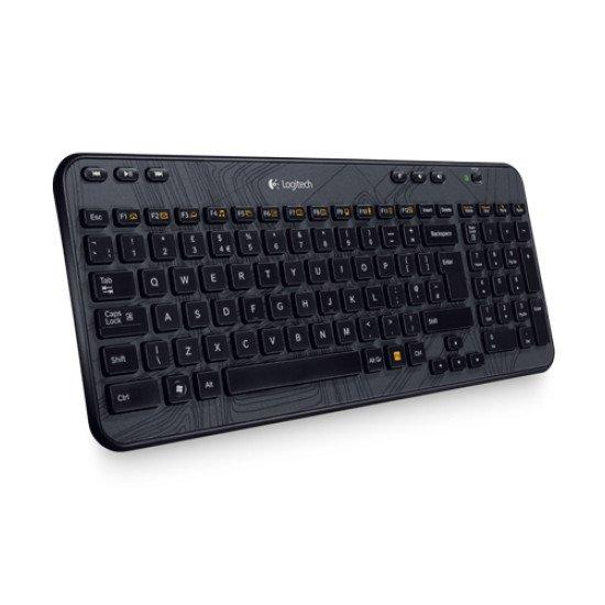 Logitech K360 Clavier sans fil Noir QWERTY US Int