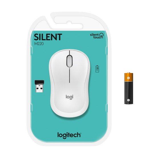 Logitech M220 Silent souris Ambidextre sans fil Optique 1000 DPI