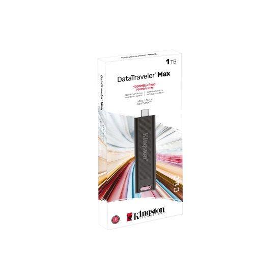 Kingston Technology DataTraveler Max lecteur USB flash 1000 Go USB Type-C Noir