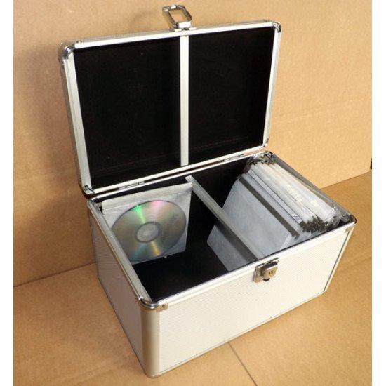 Mallette aluminium 200 CD/DVD