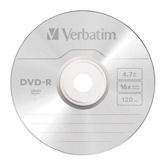 DVD vierge verbatim DVD-R 16x 25p.